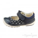 Clarks Softly Lou Fst Girls Navy Shoe