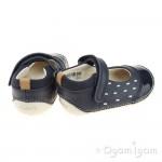 Clarks Little Lou Girls Navy Shoe