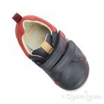 Clarks SoftlyToby Fst Boys Navy Shoe