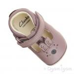 Clarks Little Glo Girls Dusty Pink Shoe