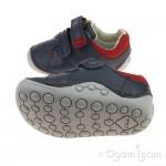 Clarks Tiny Toby Boys Navy Shoe
