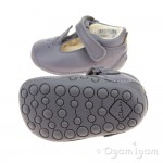 Clarks Little Glo Girls Anthracite Shoe