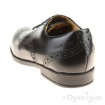 Start-rite Pinbrogue Girls Black School Shoe