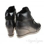 Geox lllusion Black Womens Black Ankle Boot