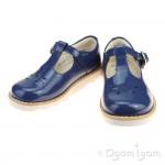 Clarks Crown Wish Inf Girls Blue patent Shoe