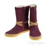 Clarks Comic May Inf Girls Plum Boot