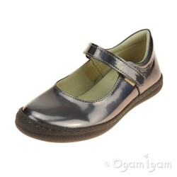 Primigi PTF 8136 Girls Inox Patent Steel Shoe