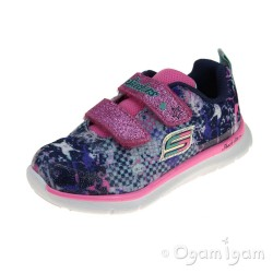 Skechers Skech-Lite Girls Navy-Multi Trainer