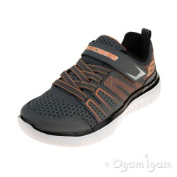 Skechers Flex Advantage High Torque Boys Charcoal-Orange Trainer