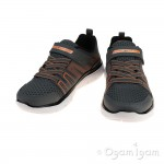 Skechers Flex Advantage High Torque Boys Charcoal-Orange Trainer