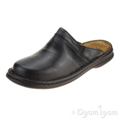 Josef Seibel Max Mens Black Leather Slipper
