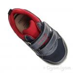 Geox Shaax Boys Navy-Red Shoe