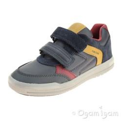 Geox Arzach Boys Navy-Dark Yellow Shoe