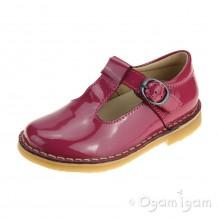 Petasil Crosspatch Girls Pink Patent Shoe