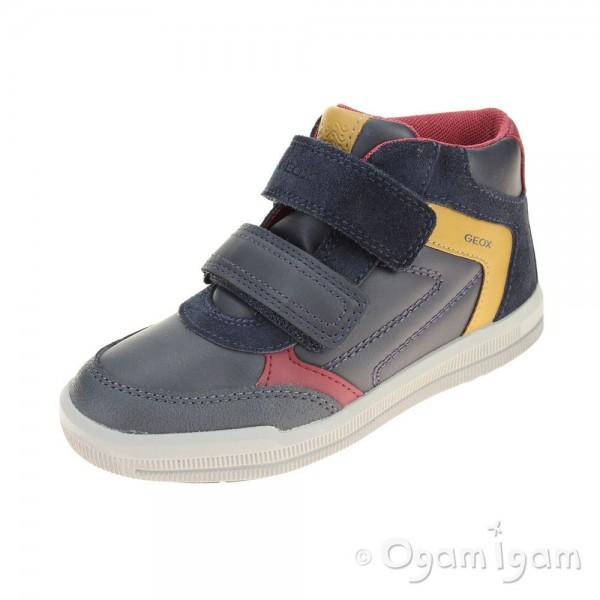 Geox Arzach Boot Boys Navy-Dark Yellow Boot