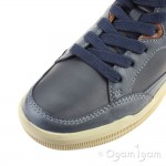Geox Arzach Boot Boys Navy-Brown Cotto Boot