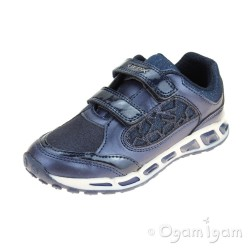 Geox Shuttle Girls Navy Trainer
