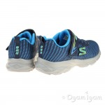Skechers Eclipsor Boys Blue-Navy Trainer