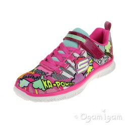 Skechers Skech Appeal Girls Neon Pink-Multi Trainer