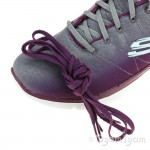 Skechers Flex Appeal Bright Side Womens Burgundy-Grey Trainer