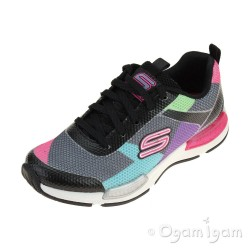 Skechers Jumptech Girls Black-Multi Trainer