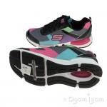 Skechers Jumptech Girls Black-Multi Trainer