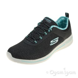 Skechers Burst Sunny Side Womens Charcoal-Light Blue Trainer