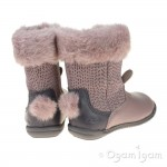 Clarks Iva Time Fst Girls Dusty Pink Boot