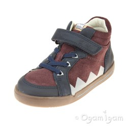 Clarks LilfolkTex Inf Boys Burgundy Boot