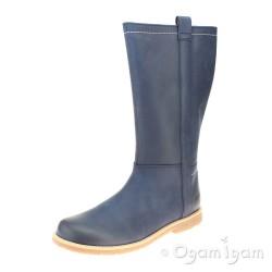 Clarks TildyGrace Jnr Girls Navy Boot