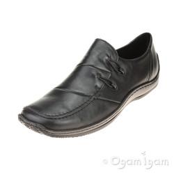 Rieker L176200 Womens Black Shoe