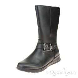 Clarks Mariel Star Inf Girls Black Boot