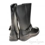 Clarks Mariel Star Jnr Girls Black Boot