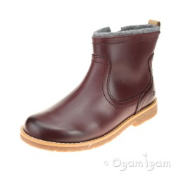 Clarks Tildy Moe Inf Girls Burgundy Ankle Boot