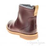 Clarks Tildy Moe Inf Girls Burgundy Ankle Boot