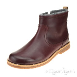Clarks Tildy Moe Jnr Girls Burgundy Ankle Boot