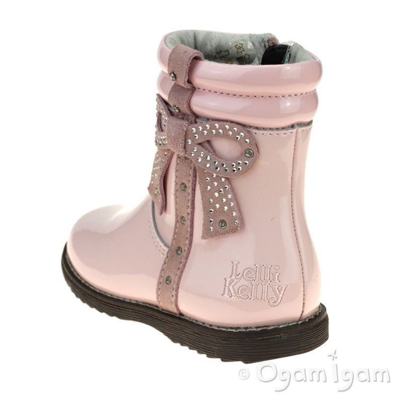 9b0cbcc3e2725 Lelli Kelly Felicia Girls Pink Patent Boot | Ogam Igam
