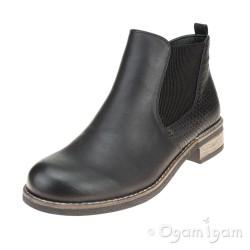 Rieker 9468000 Womens Black Ankle Boot
