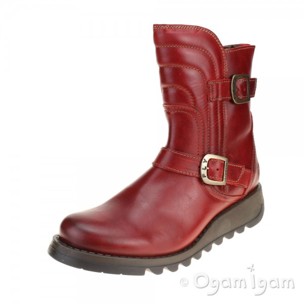 Fly London Sven Womens Red Boot