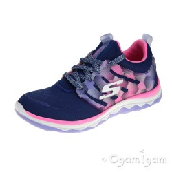 Skechers Diamond Runner Girls Navy-Hot Pink Trainer