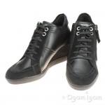 Geox Eleni Womens Black Wedge Shoe