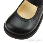 Angulus Mary Janes Girls Black School Shoe