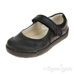 Clarks LilfolkBud Inf Girls Black School Shoe