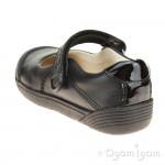 Clarks LilfolkBud Inf Girls Black School Shoe