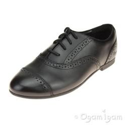 Clarks SelseyCool Jnr Girls Black School Shoe