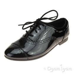 Clarks SelseyCool Jnr Girls Black Patent School Shoe