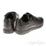 Geox Xunday Boys Black School Shoe