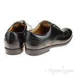 Start-rite Pinbrogue Snr Girls Black School Shoe
