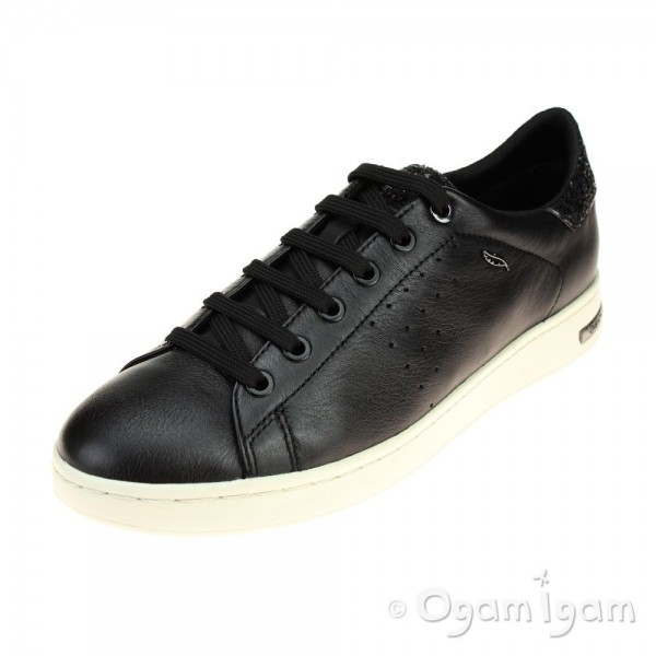 Geox Jaysen Womens Black Lace-up Sneaker Shoe