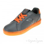 Geox Kommodor Boys Dark Grey-Orange Rechargeable Lights Shoe